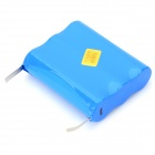AOB 3.7V 6600mAh Rechargeable Li-ion 3-18650 Battery Pack - Blue