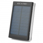 Portable Dual-USB 12000mAh Solar Power Mobile Bank - Black + White
