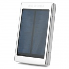 5000mAh Solar Powered Mobile Power w/ Dual USB for Iphone Ipad + More - Silver