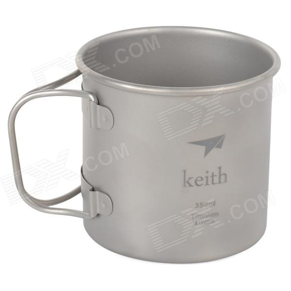 Keith KS811 Outdoor Titanium Water Mug - Silver Grey термокружка emsa travel mug 360 мл 513351
