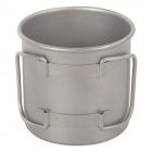 Keith KS811 Outdoor Titanium Water Mug - Silver Grey (350ml)