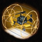 YAXUAN 9056 2.4G Four Channels Four Axis Aircraft Can Climb A Wall - Black + Golden Orange