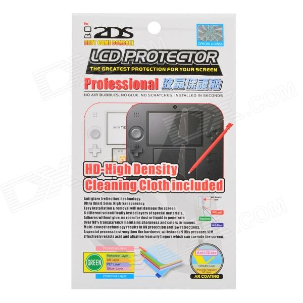 Protective Front + Back Film Protector for Nintendo 2DS