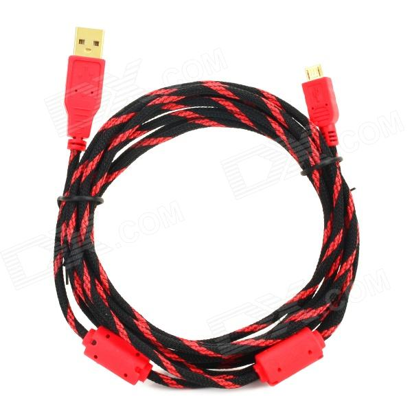все цены на Project Design USB to Micro USB Charging Nylon Cable for PS4 Wireless Controller - Black + Red (3m) онлайн