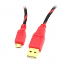 Project Design USB to Micro USB Charging Nylon Cable for PS4 Wireless Controller - Black + Red (3m)
