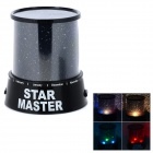 Revolving Star Master 1-LED Projector - Black (3 x AA)