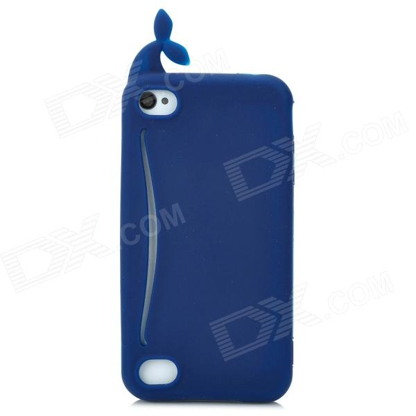 WhaleBest-008 Cute Cartoon Whale Style Protective Silicone Back Case for Iphone 4 / 4s - Deep Blue наушники 3d 008