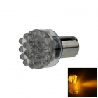 1156 / BA15S / P21W 0.8W 90lm 24-LED Yellow Car Steering Light / Backup Light / Turn Lamp - (12V)