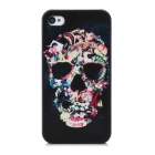 Stylish Skull Pattern Protective Plastic Back Case for Iphone 4 / Iphone 4S - Black + White