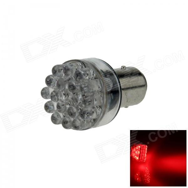 1157 / BAY15D 0.8W 90lm 24-LED Red Car Steering Light / Backup Light / Brake Lamp - (12V)