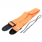Adjustable Nylon Guitar Strap - Orange