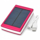 30000mAh Solar Powered Dual USB External Battery Power Bank w/ LED Indicator / Flashlight - Red