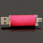 Super Quality Unique Cellphone-used Micro USB to USB 2.0 Flash Drive Disk - Deep Pink (4GB)