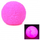 Cute Rose Style ''LOVE'' Pattern 1-LED Round Bulb - Deep Pink (3 x AG13)