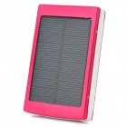 Portable 5V 1A / 2.1A Li-ion Battery / Solar Power Bank w/ Dual USB / LED - Red + White