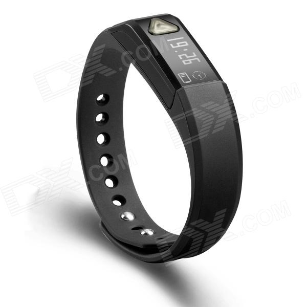"Vidonn X5 0.49"" IP67 Bluetooth V4.0 Smart Watch Wristband Bracelet w/ Sports/Sleep Tracking - Black"
