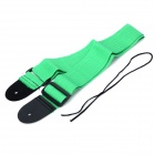 Adjustable Nylon Guitar Strap - Green