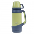 YONGQUAN YQP-1301 Fashionable Stainless Steel Travelling Thermos Bottle - Green + Gray (950mL)