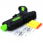 M02 Cool PC BB Guns Toy + Sponge Bullets Set - Black + Jade Green