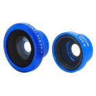 Universal 3-in-1 0.67X  Macro / Wide Angle Lens + Fish Eye Lens for Iphone / XiaoMi - Deep Blue