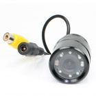 LsqSTAR ST-1070 CCD Universal Car Rearview Camera w/ 7-LED / 170 Degree Wide Angle Lens - Black