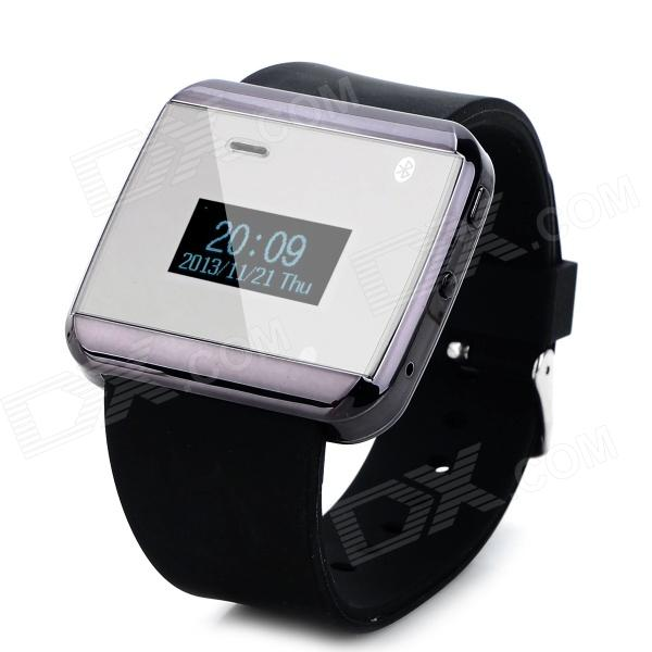 1.0 Screen Silicone Band Bluetooth Wrist Watch w/ Receiving and Dial Call Function wireless service call bell system popular in restaurant ce passed 433 92mhz full equipment watch pager 1 watch 7 call button