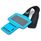 Convenient Sports Neoprene Arm Bag for Iphone 4 / 4s - Blue + Black