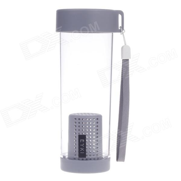 EYKI H5018 High-quality Leak-proof Bottle w/ Filter + Strap - Gray (400ml)