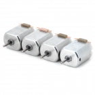 130 DIY Model Motor for R/C Toys - Silver (1~6V / 4PCS)