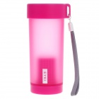 EYKI H5013 High-quality Leak-proof Frosted Bottle w/ Filter + Strap - Deep Pink (350ml)