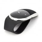2.4GHz Bluetooth V4.0 Rechargeable Hands-Free Car Kit - Black + Silver