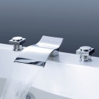 YDL-F-8004-1 Fashionable Bathrooms Arc-Shaped Basin Split Faucet - Silver