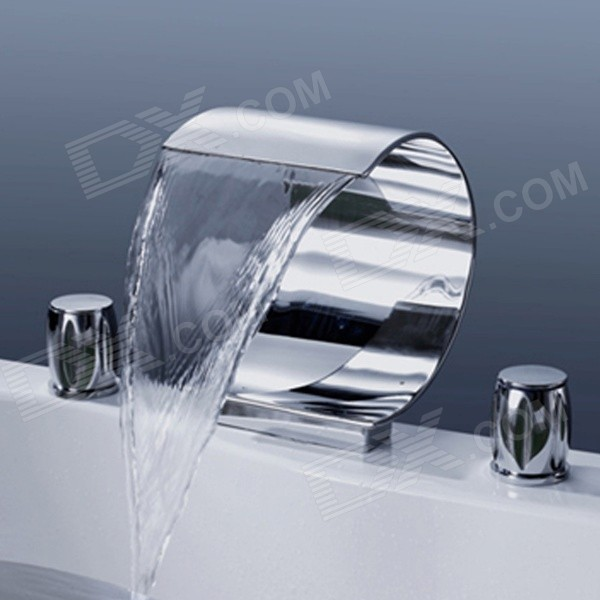 YDL-F-8007-1 Bathroom Luxury Waterfall Hot / Cold Faucet - Silver
