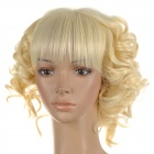 HM HMD1458 Fashionable Short Curly Hair Wig - Beige + White