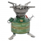 BRS BRS-29 Outdoor Free Pre-Heating Gas Stove - Green + Silver