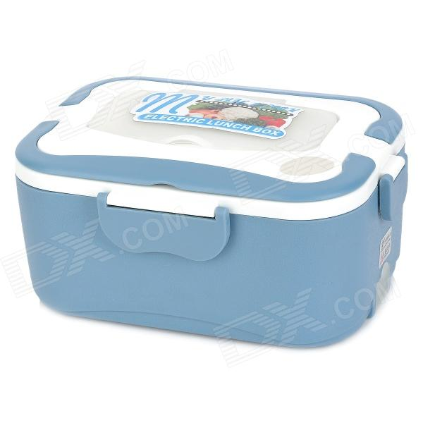 OUSHIBA Multi-Function Car Electric Food Warmer Lunch Box - Blue + White lunch at the zoo