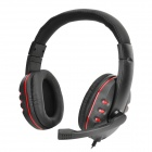 Gaming Headset Headphones w/ Microphone / Voice Control for PS4 - Black + Red (3.5mm Plug / 110cm)