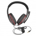3.5mm Gaming Headset Headphones w/ Mic / Control for PS4 - Black + Red