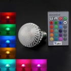 Walang Ting E27 5W 110lm 16 RGB-Color 4-LED-Weißlicht-Lampen-Birne w / Remote - (90 ~ 260V)