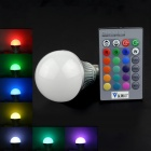 Walang Ting E27 5W 110lm RGB LED Remote Control Light - Silver + White (AC 90~260V)