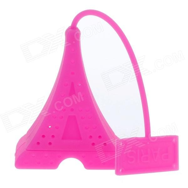 Eiffel Tower Style Silicone Tea Strainer Filter - Deep Pink