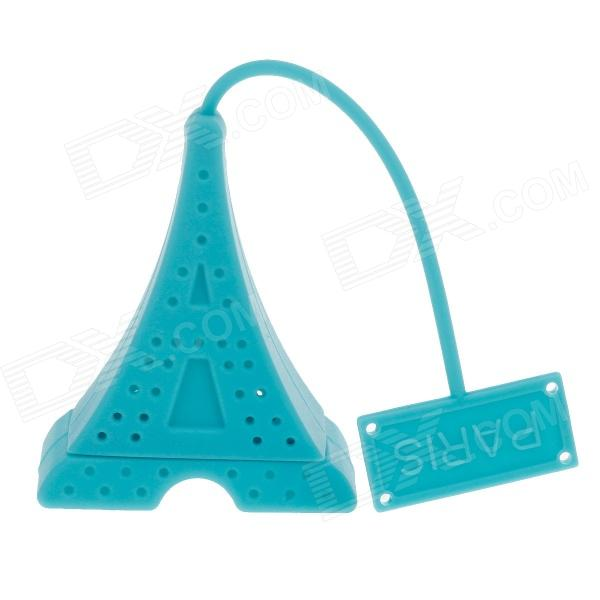 Eiffel Tower Style Silicone Tea Strainer Filter - Lake Blue