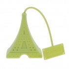 Eiffel Tower Style Silicone Tea Strainer Filter - Green