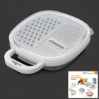 Multifunctional Handy Fast Slicer / Shredder Kitchen Tool Set - White + Silver