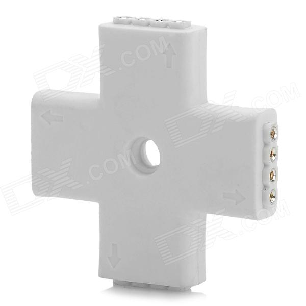 JRLED Cross Shaped 4-head Strip Splitter for RGB Light Strip - White