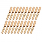 5.5mm Bullet Banana Connect Plug with Connectors for RC Battery - Golden (20-Pair)