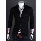 MUGE 9005 Meditation Men's Slim Fit Shirt - Black (Size-L)