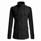 AOWO MBB-F66 Stylish Men's Slim Fit Long Coat - Black (Size-L)