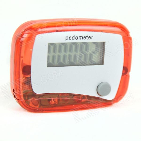 0.9'' LED Pedometer - Red + White (1 x AG10)