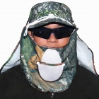 Outdoor UV Fishing Cap - Camouflage Green